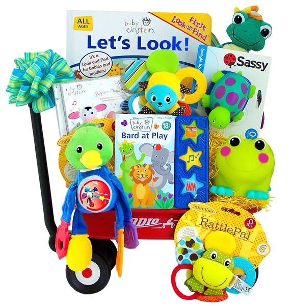 Having Fun With Baby Einstein Wagon Gift Set
