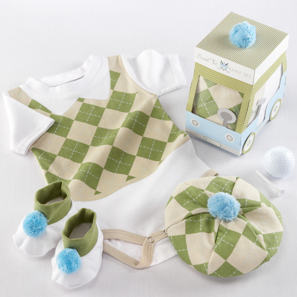Three Piece Sweet Tee Baby Golf Layette Set