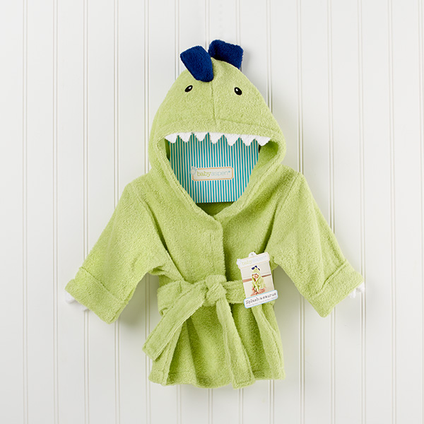 Jurassic Green Dinosaur Hooded Spa Bath or Pool Robe