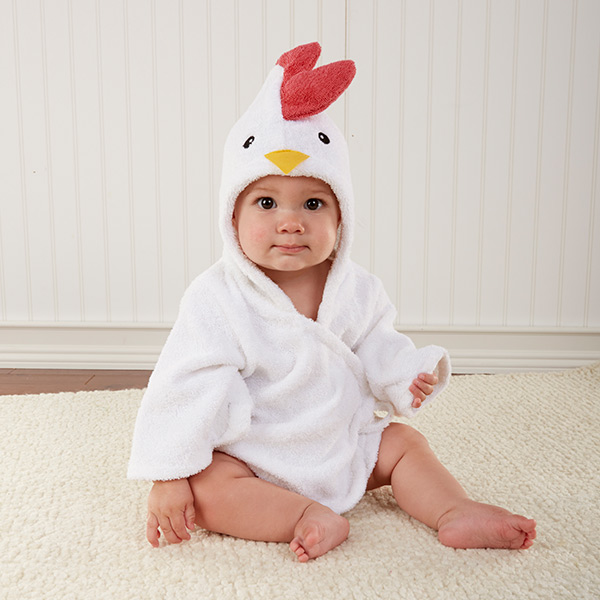 Personalized Barnyard Chicken Bath Time Baby Hooded Spa Robe