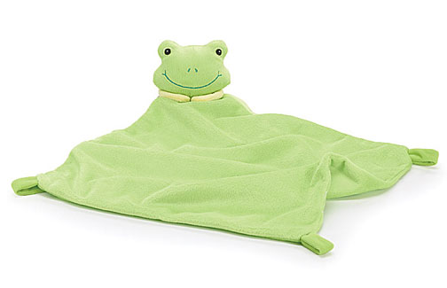 Personalized Hippity Hoppity Froggie Plush Security Baby Blanket, Lovey