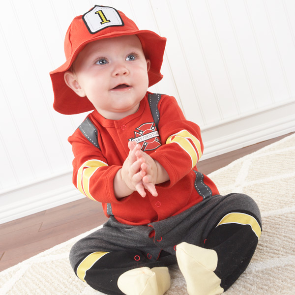 Dream Big Firefighter Two-Piece Layette Baby Gift Set