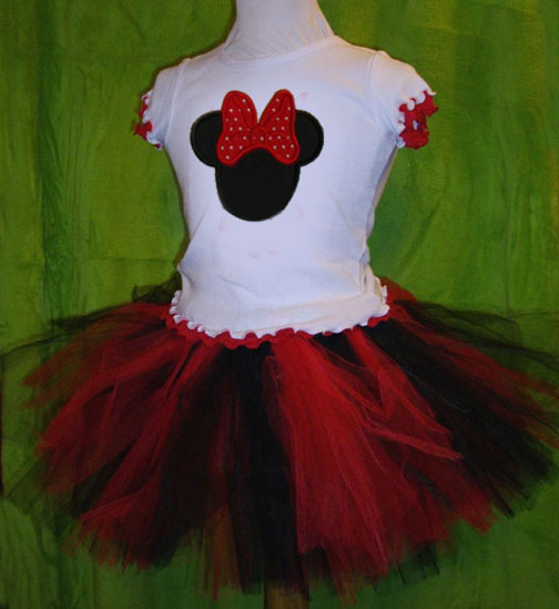 Miss Mouse Appliqued Tutu Gift Set