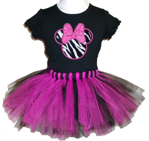 Miss Mouse Zebra Tutu Girls Gift Set