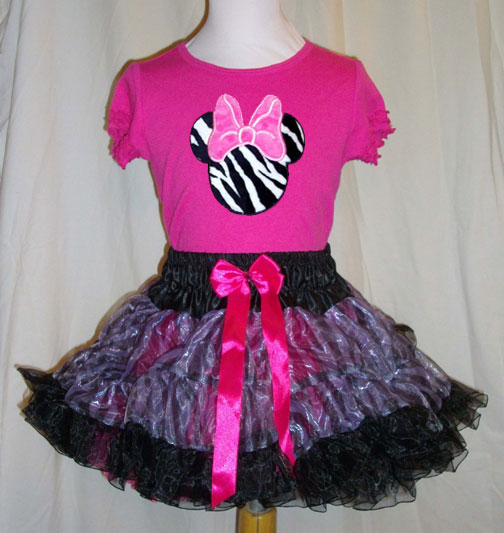 Zebra Miss Mouse Pettiskirt Gift Set for Baby and Toddler