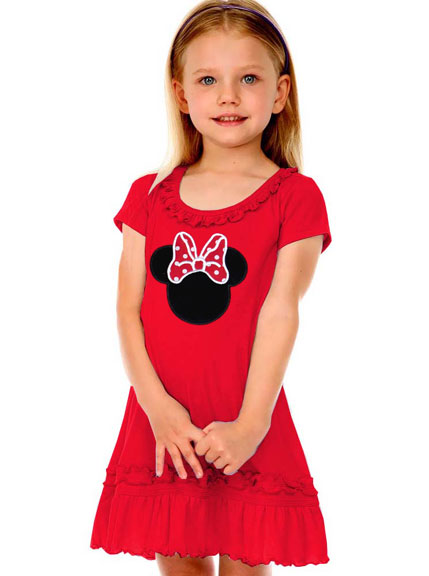Red Baby & Toddler Dress With Miss Mouse