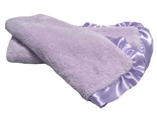 Lovely Lilac Plush Cloud Fleece Baby Receiving Blanket