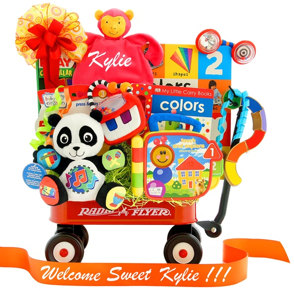 Personalized Color Me Bright Baby Einstein Wagon Gift Set