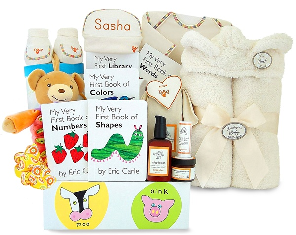 Personalized Arrive In Style Deluxe Celebrity Edition Baby Gift Basket